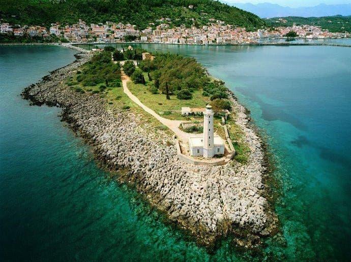 Η νήσος Κραναή από ψηλά